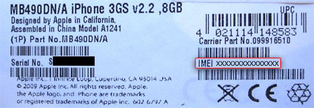 comment obtenir code imei iphone 4